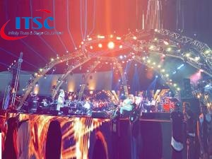 40ft Box Truss Stage Dome Roof System for Concerts -ITSC पुलिंदा