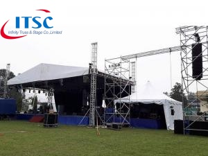 7m Stage Triangular Roof Box Truss for Line Arrray -ITSC पुलिंदा